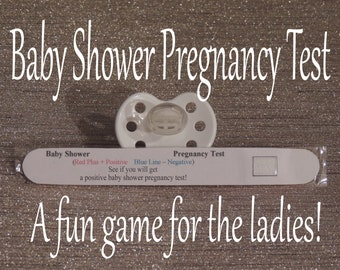 Baby Shower Pregnancy Test - Baby Shower Games