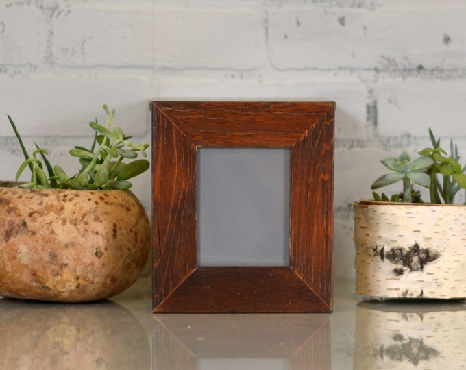 """3.5x4.5"""" ACEO or Wallet Size Picture Frame in 1.5"""" Reclaimed Cedar and in Finish Color of YOUR CHOICE - Wallet Photo Frame"""