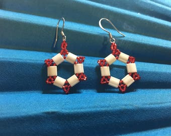 Life preserver earrings