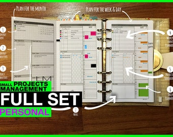 FULL [PERSONAL SPM] July 2018 to June 2019 | Small Projects Management - Filofax Inserts Refills Printable Binder Planner Midori.