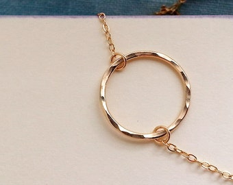 Circle Of Life Necklace. Gold Circle Necklace. Circle Necklace. Gold Circle. Eternity. Layering Necklace. Delicate Dainty