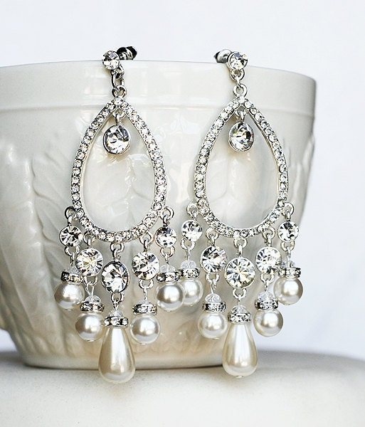 Bridal earring wedding earring rhinestone chandelier earrings zoom aloadofball Image collections