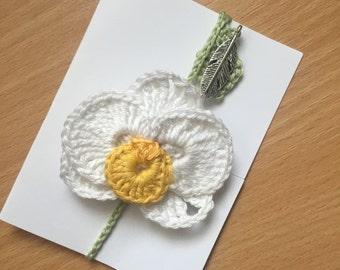 Orchid crochet bookmark / hair clip / brooch