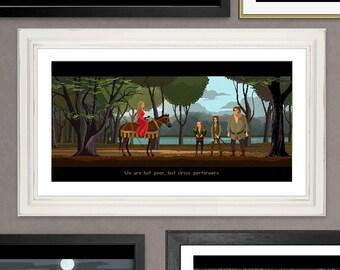 Pixel Art Princess Bride Poster