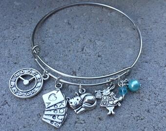 Disney Alice in Wonderland Adjustable Charm Bracelet