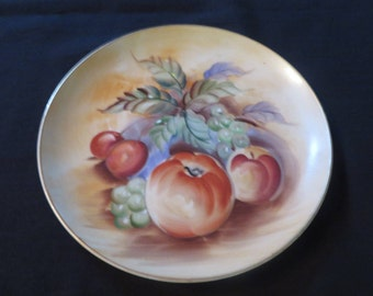 "Lefton China Fruit Plate Hand Painted 8"" 3208"