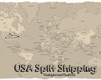 Split Shipping  First Class USA