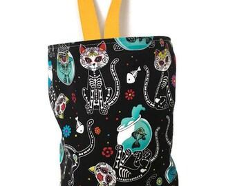 Car Trash Bag, Cat Skeletons and Fish Bowls, Car Litter Bag, Hanging Car Trash Bag, Car Jeep Accessory, Waterproof Storage Bag