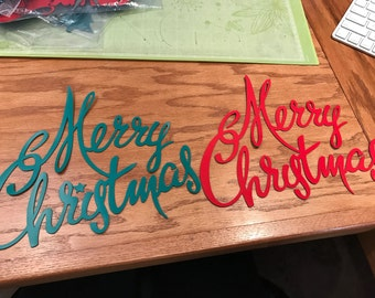 Fancy Merry Christmas Magnet