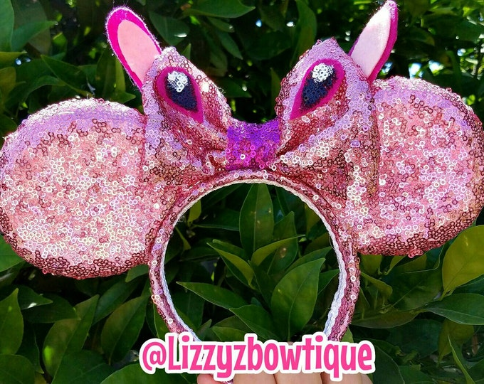Lilo and Stitch Angel sequin Minnie ears