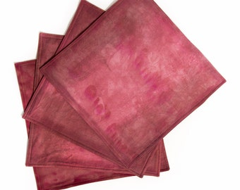Square Placemats - Custom Placemats - Housewarming Gift - Wedding Linens - Choose Your Colors - Hand Dyed Fabric - Dip Dyed - Shibori