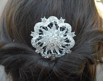 Amelia Collection, Rhinestone Hair Comb, Victorian Art Deco Bridal Hair Comb, Vintage Style Hair Accessories, Wedding Hair Comb