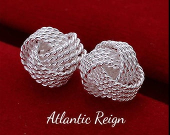 Silver Plated Knot Earrings