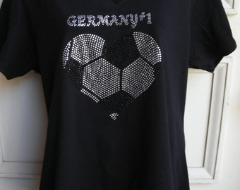 2XL German No. 1 With Soccer Heart World Cup Winner T