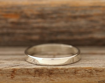 Polished Solid Silver Band - 3mm