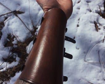 Leather arm guard/bracer