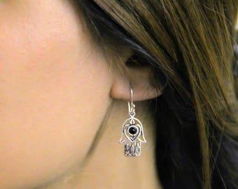 Tiny Hamza Hand Earrings