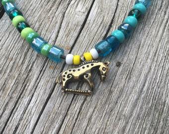 Rus Viking replica of a Khazarian horse pendant