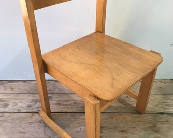 Old school 70's Vintage wood child Chair