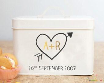 Personalised Anniversary Tin