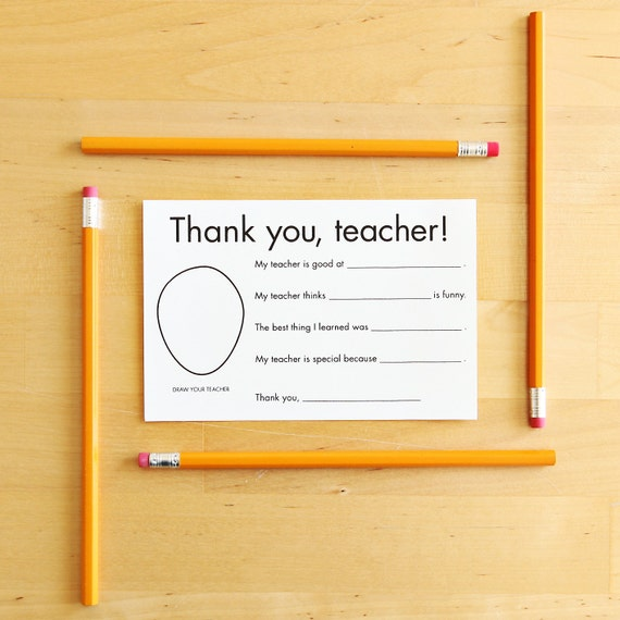 Thank you card for teacher gift for teacher card teacher m4hsunfo