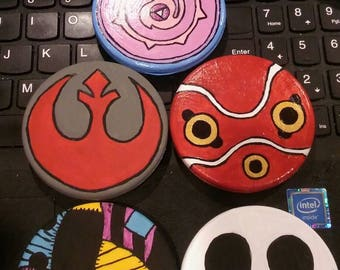 Geeky Hand painted compact mirrors
