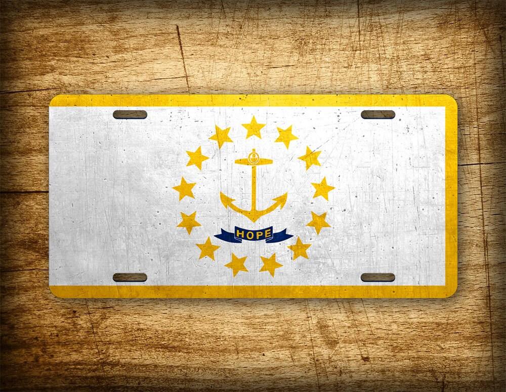 Rhode Island State Flag License Plate Ri Official Flag Symbol