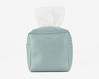 Square Tissue Box Cover, Facial Tissue Holder, Toilet Paper Holder, Soft Touch, Blue