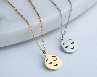 Personalised Emoji Necklace, Emoji symbol pendant, Emoji Jewellery, Joy Face Necklace, Smiley Face Necklace, Gifts for Her, Emoji Jewelry
