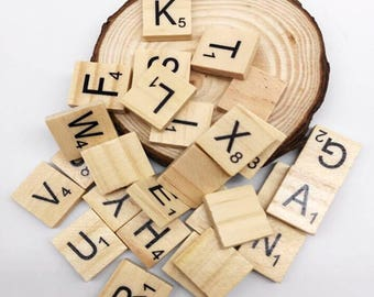 ON SALE-5set(500pcs) Wooden Scrabble Tiles, Crafting Jewelry Wedding Favors Alphabet Pendants, Earrings, Magnets, Charms, Mosaics,wholesale