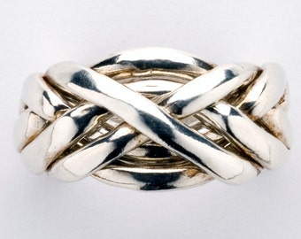 Ladies Six Band Puzzle Ring style 6C3