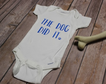 The Dog Did It Baby Outfit
