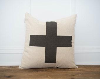 Swiss Cross Pillow Cover