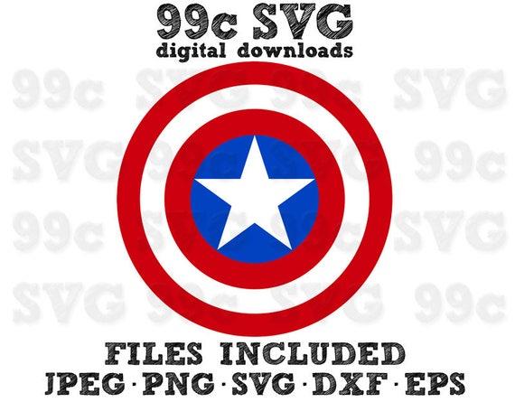 Captain America Shield Svg Dxf Png Vector Cut File Cricut
