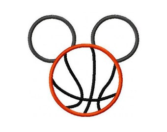 Instant Download Basketball Mouse Embroidery Machine Applique Design-538