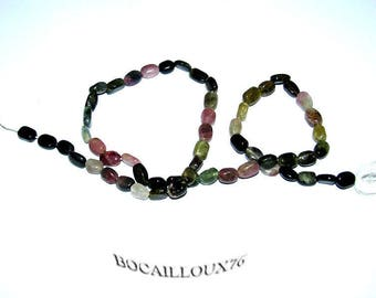 FIL TOURMALINE Multi 3* Perles Ovales - Pour CREATION