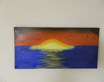 Sunset Days Acrylic Painting