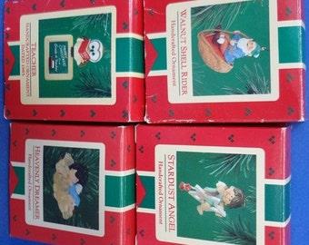 1980's Set of Four Hallmark Retired Ornaments