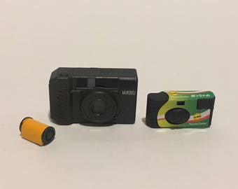 Dollhouse Miniature 1:6 scale dollhouse camera film disposable point and shoot pictures photography photo