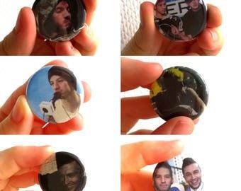 Pin's badge Twenty one pilots with Josh Dun and Tyler Joseph - various models