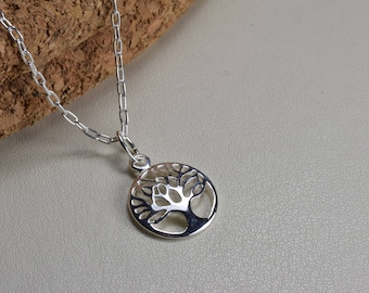 Sterling Silver, tree of life necklace