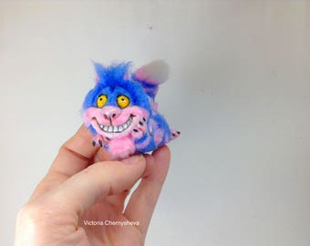 Cheshire Cat, miniature, cat, Alice in Wonderland, art doll
