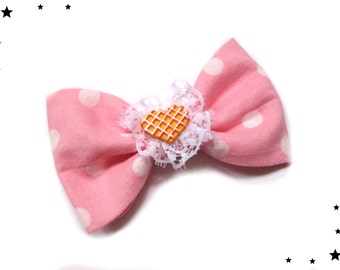 hair bow hair clip barrette kawaii Lolita Candy rose