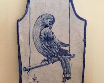 Ceramic Tile with Bird* Mattonella Quadretto di ceramica con Uccellino