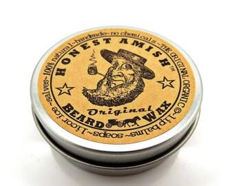 Beard Wax - ORIGINAL - 100 % Natural and Organic by Honest Amish