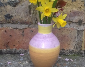 Beautiful individual pottery spring vase