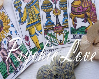 Psychic Love reading - insightful tarot reading, their thoughts and feeling compaired to yours, with messages from your guides