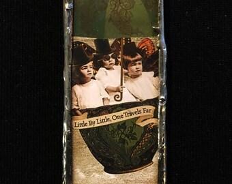 Stempunk fairy children soldered pendant