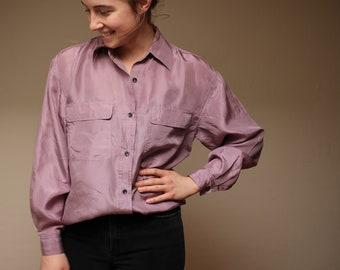 Sophisticates Lavender Silk Blouse
