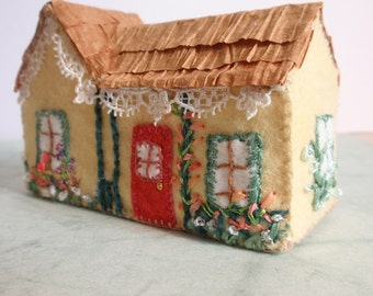 Miniature Felt Cottage